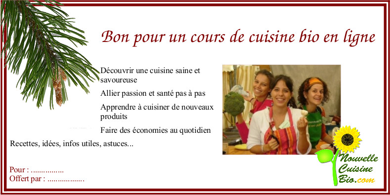 Newsletter intelligence verte d cembre 2015 intelligence for Offrir des cours de cuisine